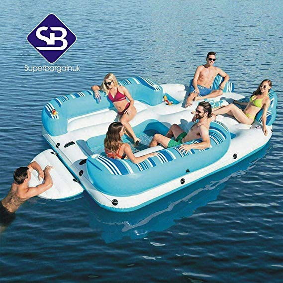 6 Person Bahama Wave Inflatable Island